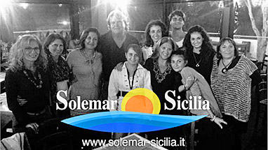 Maria Carnevale and Thomas Grüssner and the Solemar Sicilia Team