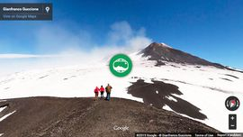 Photo Sphere Panorama of holidays in Sicily: Hiking on Mount Etna