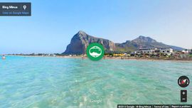 Photo Sphere Panorama of holidays in Sicily: The beach of San Vito Lo Capo