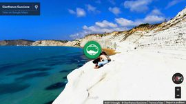 Photo Sphere Panorama of holidays in Sicily: Scala dei Turchi
