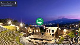 Photo Sphere Panorama of holidays in Sicily: The antique theatre of Taormina